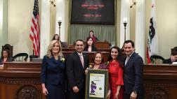 Assemblyman Kalra at the Woman of the Year Ceremony at the Capitol