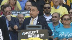 Assemblymember Kalra at Yes on AB5 Labor Rally at the Capitol