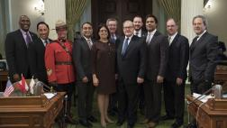 Assemblymember Kalra Welcomes a Canadian Delegation Including Lawrence MacAulay, James Villeneuve, Rana Sarkar, and Sergeant Major Doug Spencer